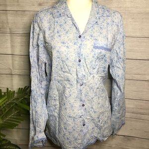 Victoria's Secret | Blue Floral Pajama Top